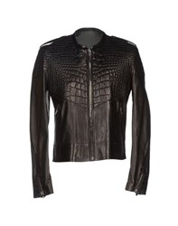 Roberto Cavalli Coats And Jackets Jackets Men Dark Brown