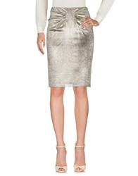 Aspesi Knee Length Skirts Platinum