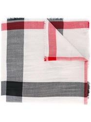 Burberry Woven Check Scarf Nude Neutrals
