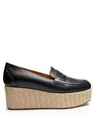 Gabriela Hearst Brucco Leather Espadrilles Navy Multi