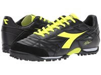 Diadora M. Winner Rb Lt Tf Black Yellow Flourescent Soccer Shoes Multi