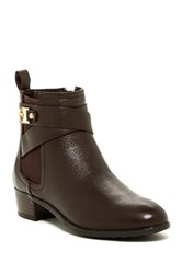 Isaac Mizrahi Shandy Leather Bootie Brown