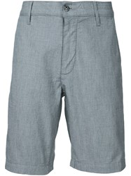 7 For All Mankind Micro Grid Shorts Grey