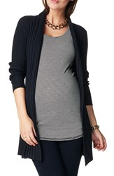 Noppies Women's 'Anne' Rib Knit Maternity Cardigan Dark Blue