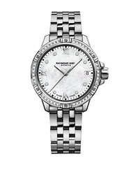 Raymond Weil Tango Diamond Studded And Mother Of Pearl Analog Watch Silver