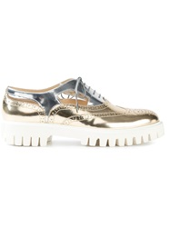 Alberto Guardiani Metallic Brogues