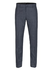 Gibson Men's Navy And Red Check Trousers Blue