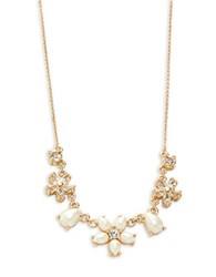 Kate Spade Mini Bouquet Faux Pearl And Crystal Necklace Cream