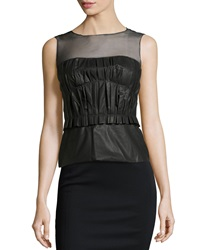 Philosophy Di Alberta Ferretti Sleeveless Tech Fabric Blouse Black