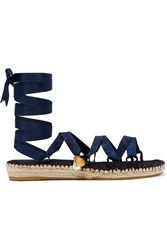 Alighieri The Lion And The Baroque Embellished Grosgrain Espadrilles Navy