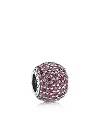 Pandora Design Pandora Charm Sterling Silver And Red Cubic Zirconia Pave Lights Moments Collection Silver Red