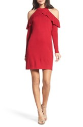Ali And Jay 'S Love At First Sight Cold Shoulder Dress Scarlet
