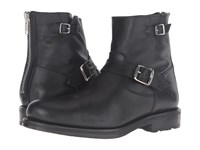 Frye Brayden Engineer Black Washed Tumbled Full Grain Men's Boots