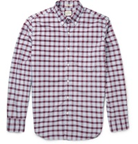 J.Crew Slim Fit Checked Cotton Shirt Red