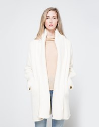 Lauren Manoogian Capote Coat In White