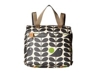 Orla Kiely Early Bird Print Small Backpack Prussian Blue Backpack Bags