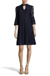 Eci 'S Lace Trapeze Dress Navy