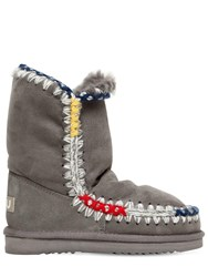 Mou 20Mm Eskimo Pop Shearling Boots Grey