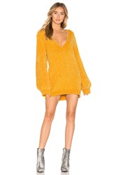 The Jetset Diaries Ti Amo Sweater Dress Mustard