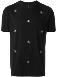 Versus Lion Studded T Shirt Black