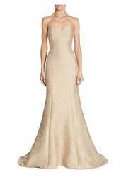 Alberto Makali Bustier Mermaid Dress Taupe
