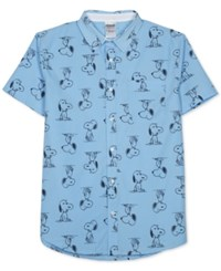 Peanuts Snoopy Print Short Sleeve Shirt By Jem