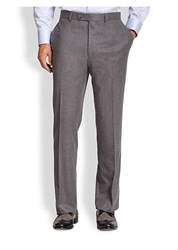 Saks Fifth Avenue Collection Flannel Trousers Charcoal
