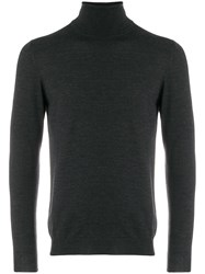 Zanone Roll Neck Fitted Sweater Grey