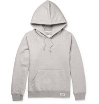 Wacko Maria Printed Loopback Cotton Jersey Hoodie Gray