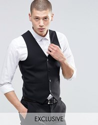 Only And Sons Skinny Waistcoat With Stretch Black