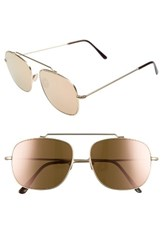 Spektre Women's Montana 56Mm Gradiant Sunglasses Matte Gold Rose Gold Mirror Matte Gold Rose Gold Mirror