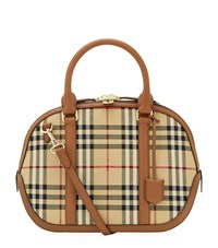 Burberry Shoes And Accessories Small Horseferry Check Orchard Bowling Bag Female