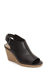 Women's Via Spiga 'Ingrid' Wedge Sandal Black Calf