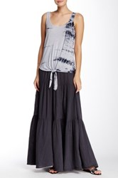 Michael Stars Tiered Maxi Skirt Gray