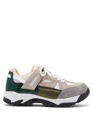 Maison Martin Margiela Security Mesh And Suede Trainers Green