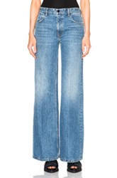 Alexander Wang Denim X Alexander Wang Rave Wide Leg In Blue