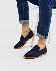 Hudson H By Parker Summer Loafers In Navy Suede