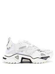 Calvin Klein 205W39nyc Strike 205 Suede And Mesh Trainers White
