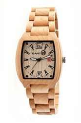 Earth Wood Men's Earth Sagano Watch Beige