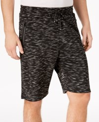 Ring Of Fire Men's Heathered Knit Shorts Black