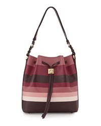 Sansy Striped Bucket Bag Rouge Noir Griott Salvatore Ferragamo