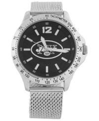 Game Time New York Jets Cage Series Watch Silver Black