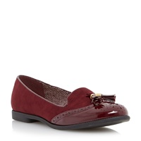 Head Over Heels Lume Brogue Detail Loafers Burgundy