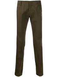 Entre Amis Slim Fit Chinos Green