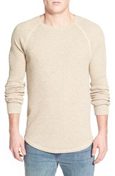 Men's Lucky Brand Long Sleeve Crewneck Thermal Oatmeal