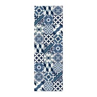 Hibernica Large Tiles Vinyl Floor Mat Blue