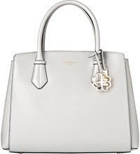 Lk Bennett Catrina Leather Tote Bag Gry Mist