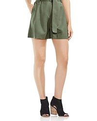 Vince Camuto High Waist Belted Shorts Camo Green