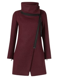 Osklen Turtle Neck Coat Red