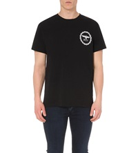 Boy London Eagle Print Cotton T Shirt Black